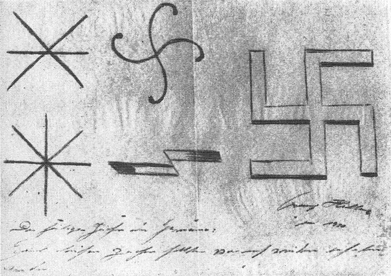 1920-Adolf_Hitler_designs_nazi_symbol