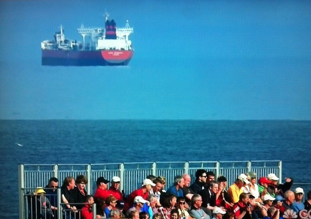 ship flying illusion