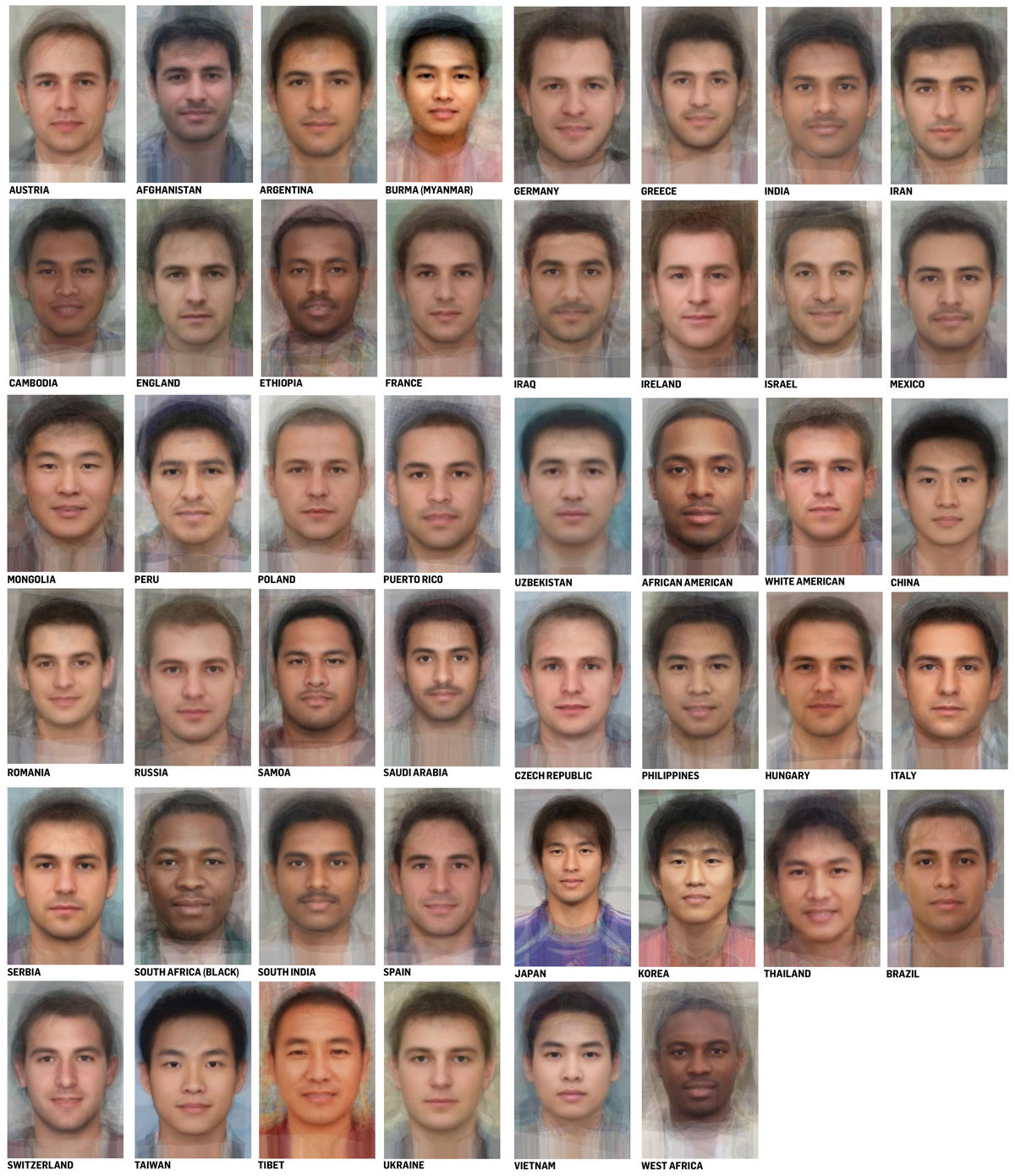 Average Faces From Around The World Including Hollywood Actors - Earthly Mission-9592