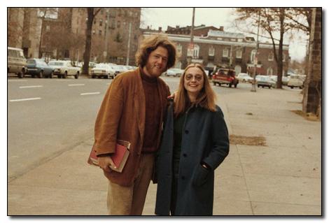 1973. Bill es Hillary Clinton mint egyetemistak