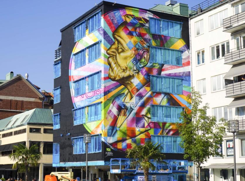 Très Cool Street Art in Borås, Sweden | Earthly Mission NT64