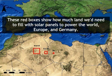 How Much Land We Would Need to Supply the World with Solar Energy