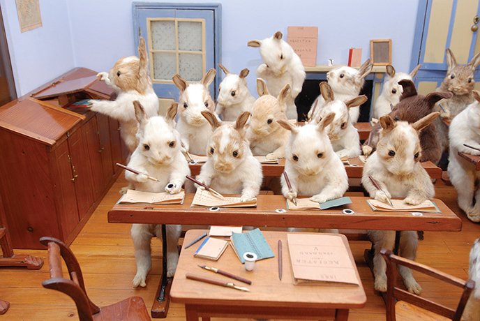 Rabbits' Village School, c 1888.