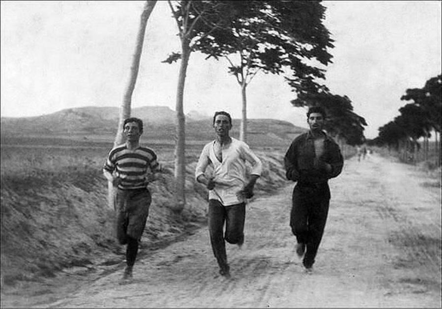 1896. Maratoni futok az elso ujkori oimpian Athenban.