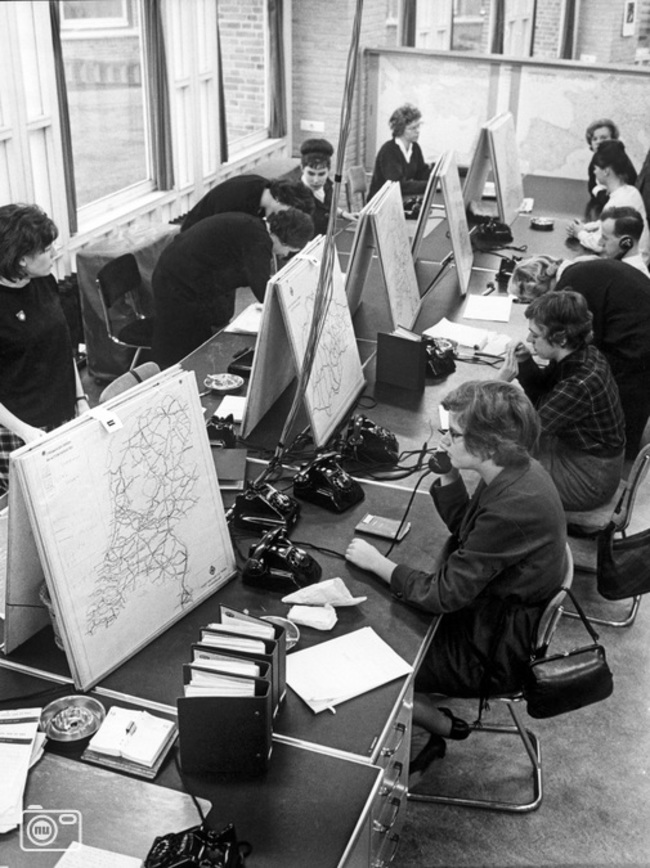 1963. A hotline for getting directions before satnav. [1963]