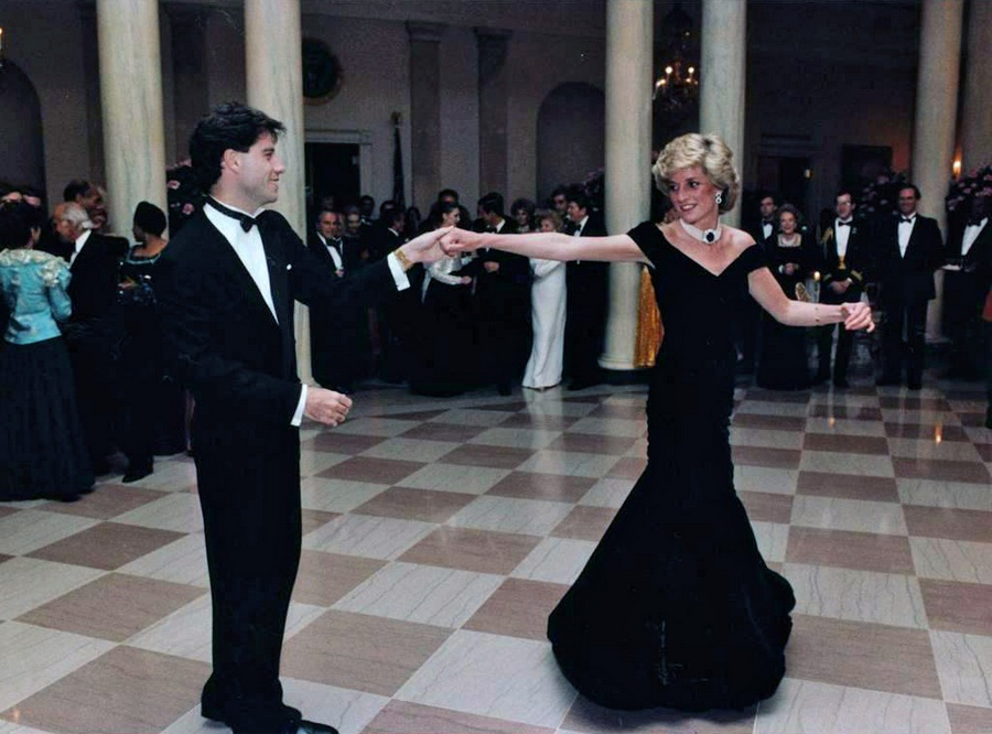 Princess Diana dancing with John Travolta at the White House, 1985