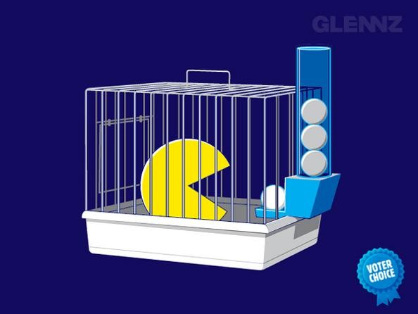 pacman-in-cage-funny_181214