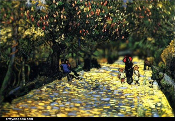 tilt-shift-van-gogh-red-chestnuts-in-the-public-park-at-arles-detail