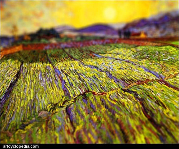 tilt-shift-van-gogh-wheat-field-with-rising-sun-detail