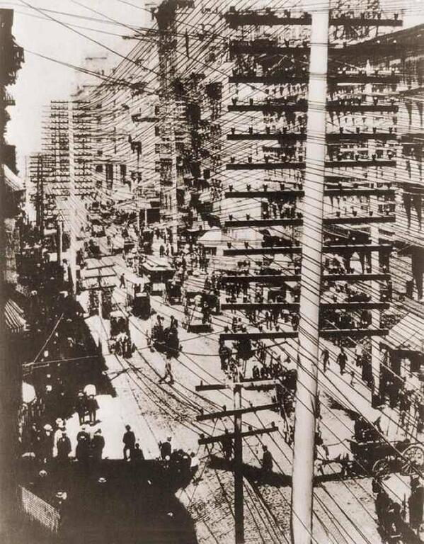 1887                                        telephone wires in new york