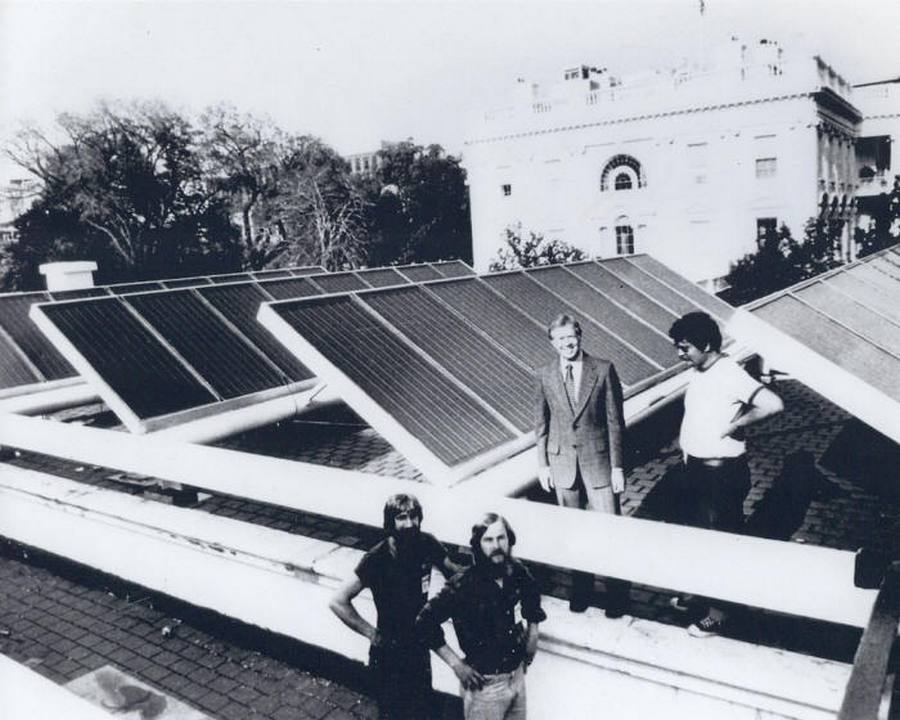 1979 carter solar panels white house