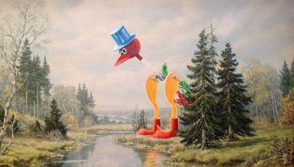 adding-characters-to-thrift-store-paintings-by-david-irvine-gnarled-branch-21