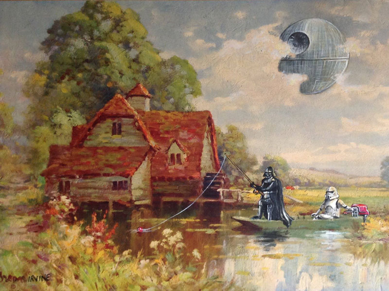 Artist Reworks Old Thrift Store Paintings