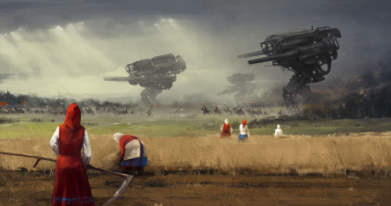 jakub_rozalski_oil_paintings_mechs_060115_1