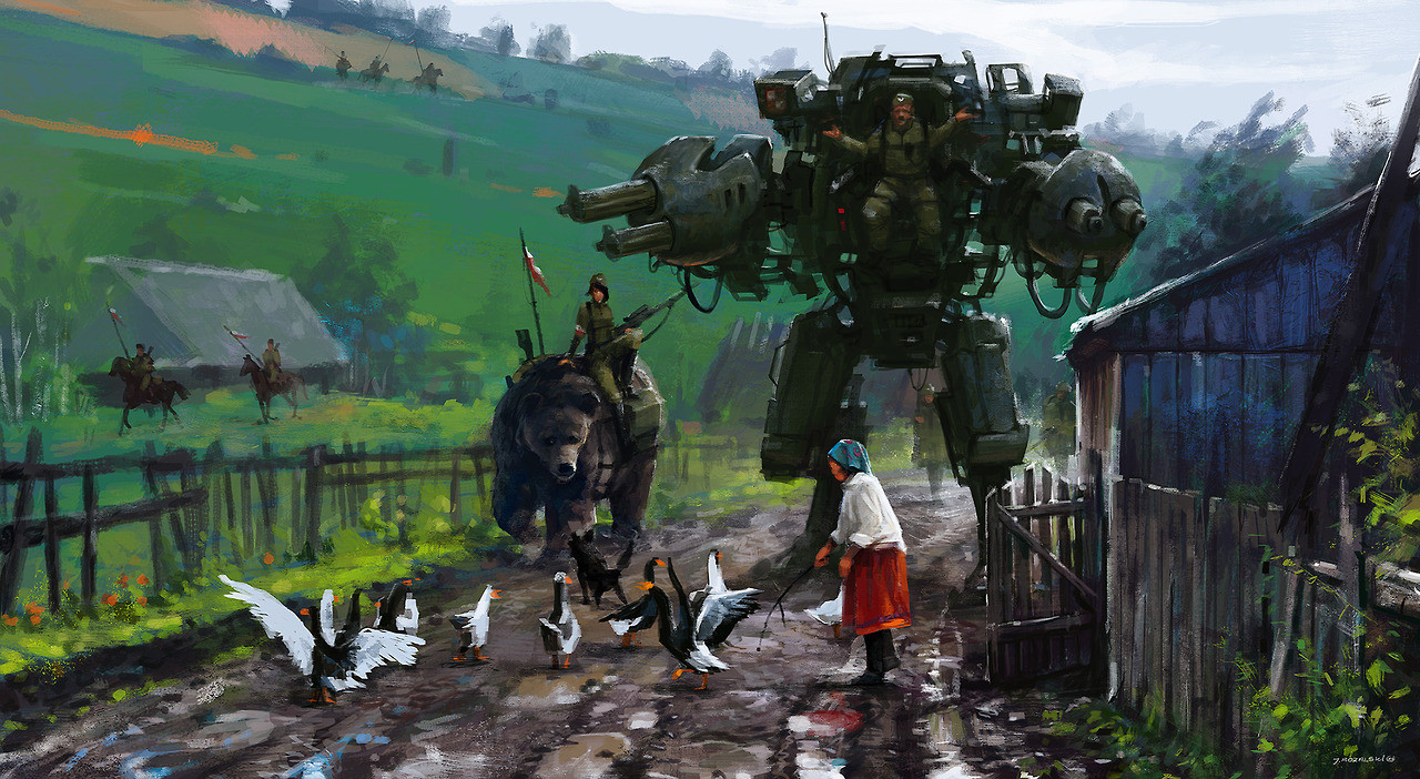 jakub_rozalski_oil_paintings_mechs_060115_2