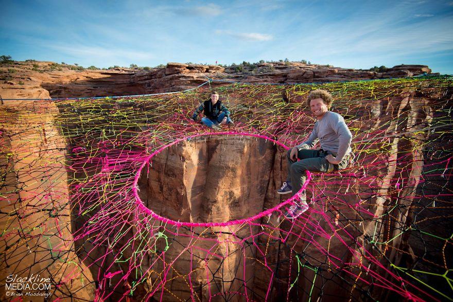pentagon-handmade-net-over-canyon-moab-monkeys-brian-mosbaugh-2