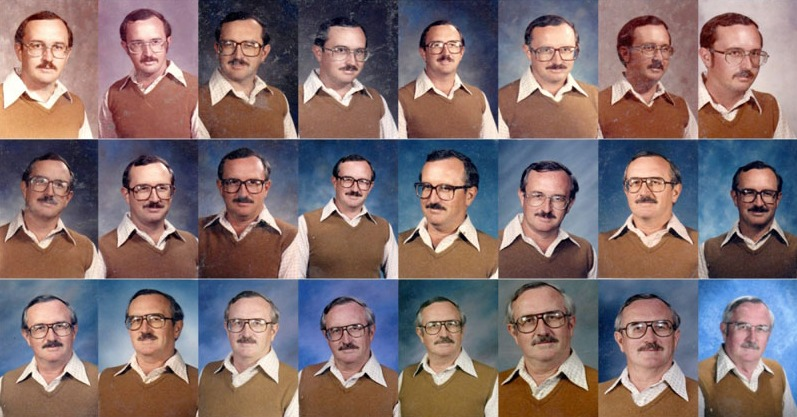 Teacher Wears Same Yearbook Photo Outfit for 40 Consecutive Years