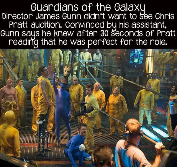movie facts guardians of the galaxy