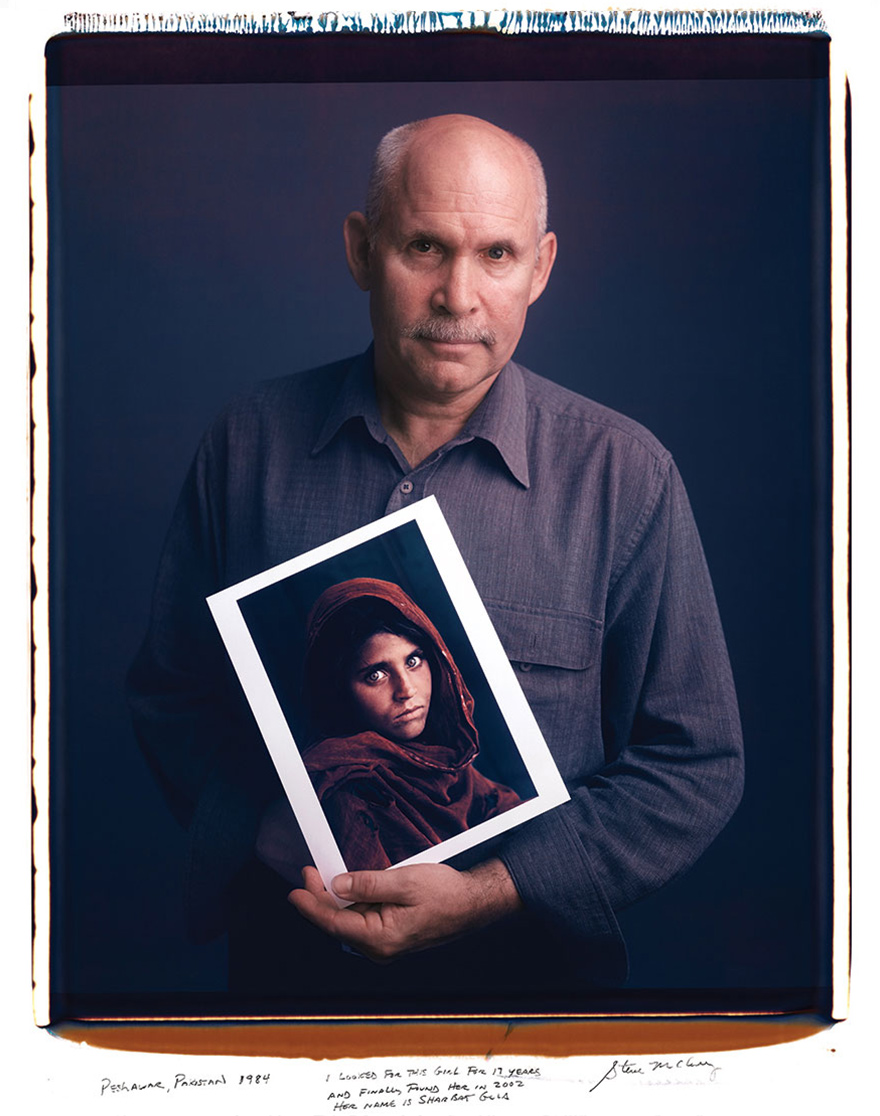 Steve McCurry with Girl In Afghanistan