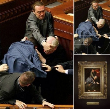 fight_ukrainian_parliament_painting_art_bl