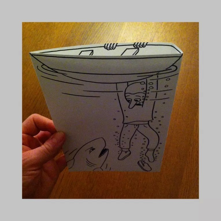 Clever '3D' Drawings By HuskMitNavn