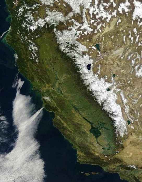 This is what California might have looked like from space in 1851