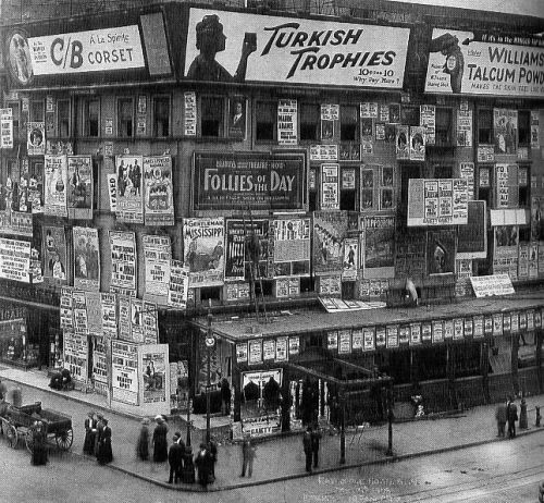 Billboards in Times Square 1900