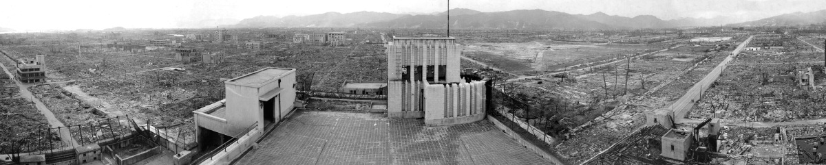 1945 Panorama of destroyed Hiroshima after the nuclear detonation in 1945
