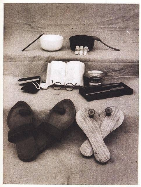 1948 Mahatma Gandhi's worldly possessions. ca 1948