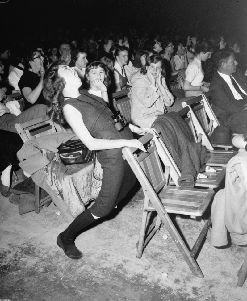 A teenager at an Elvis Presley concert at the Philadelphia Arena on April 6, 1957