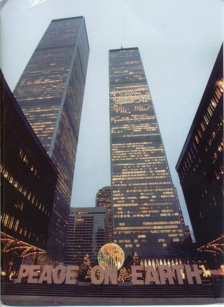 World Trade Center during the holiday season, circa mid 70's