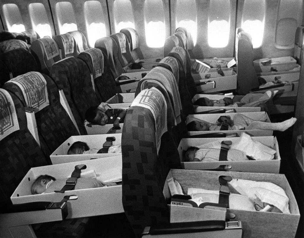 1975, over 3300 Vietnamese orphans were evacuated and transported by airplanes to the US