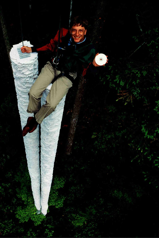 This CD-ROM can hold more information than all the paper that's here below me Bill Gates,1994