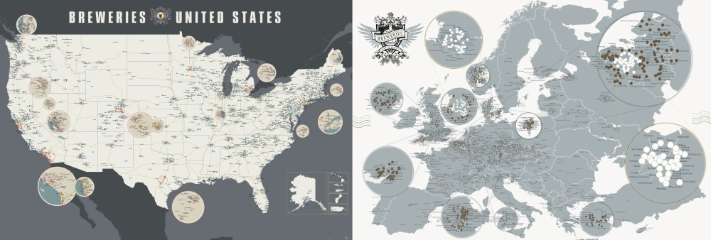 breweries of USA and Europe