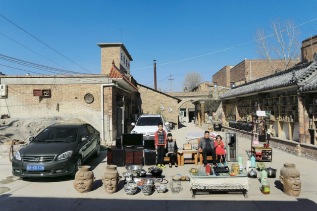 Home in the upper streets of Chenlu Town, Yintai District, Tongchuan City,Shaanxi Province