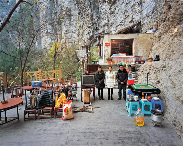 Home inside the Xiaozhai Sinkhole, Fengjie County, Chongqing