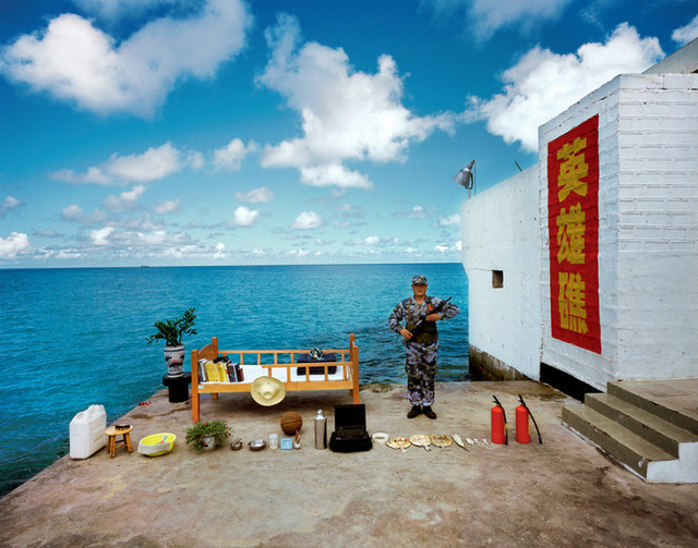 Home of a soldier on Chigua Reef, Nansha Islands, Sansha City, Hainan Province