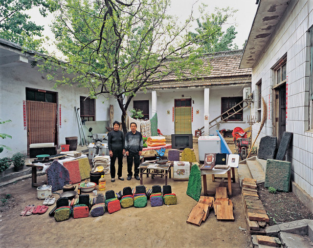 New Year wood block print maker's home in Zhuxian Town, Kaifeng City, Henan Province