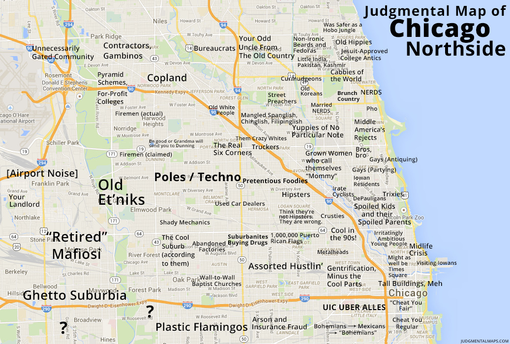 Judgmental City Maps - Earthly Mission