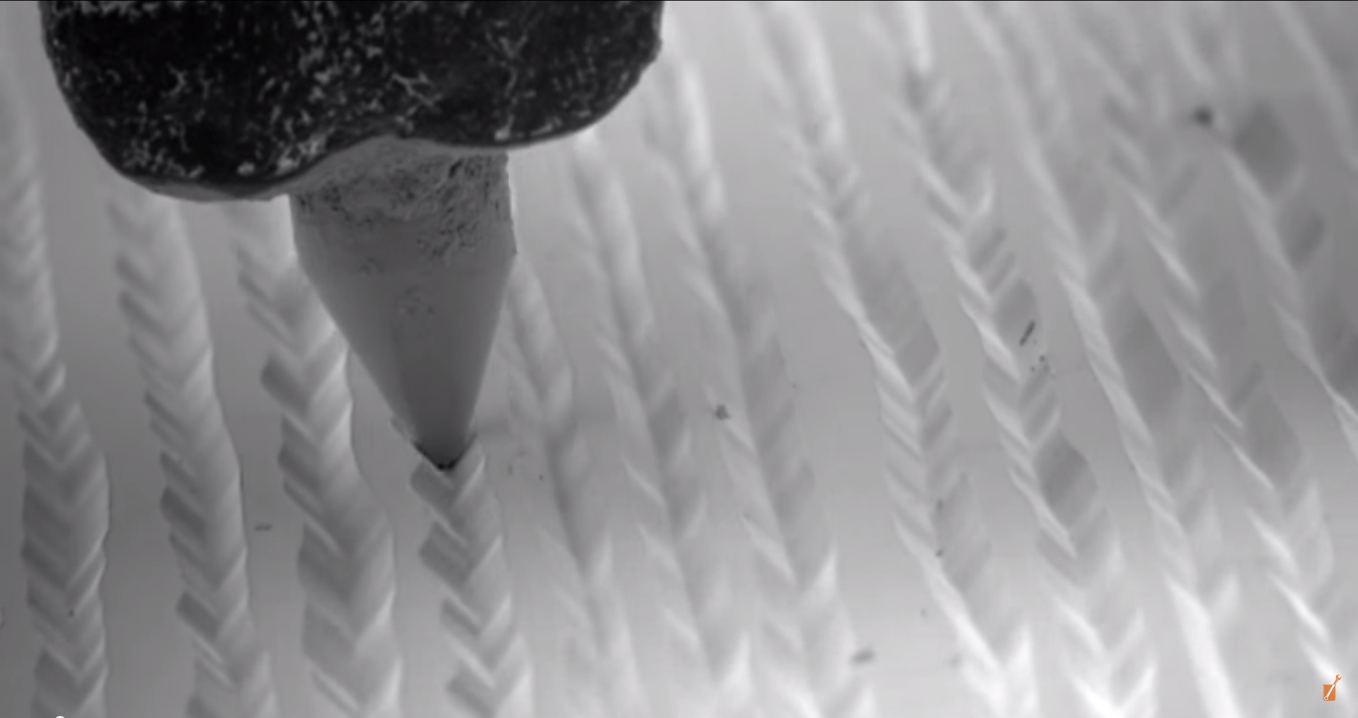 Vinyl Record Played Under An Electron Microscope Earthly