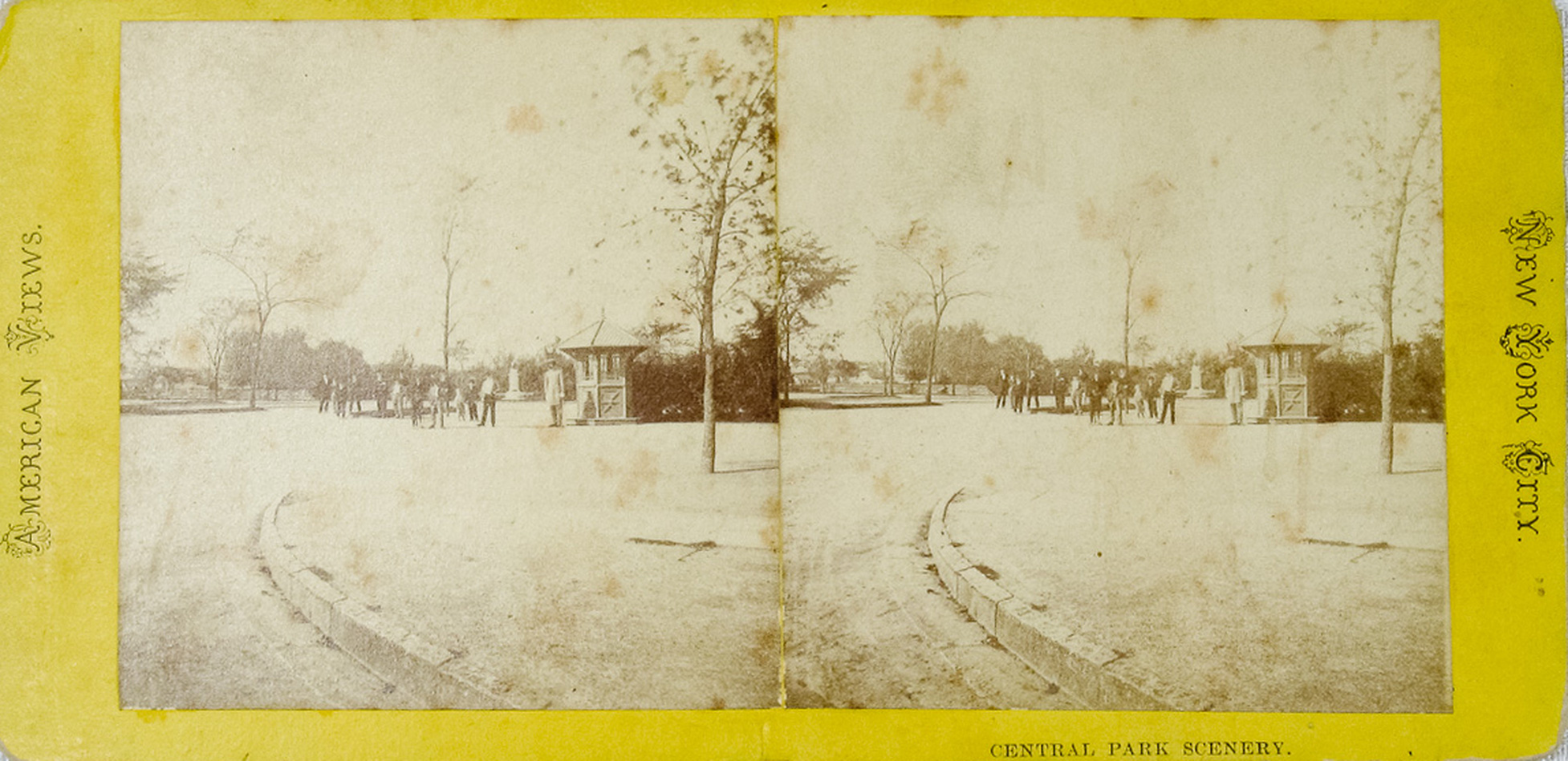 1-Central Park's original grand entrance on Fifth Avenue with policeman and guard house