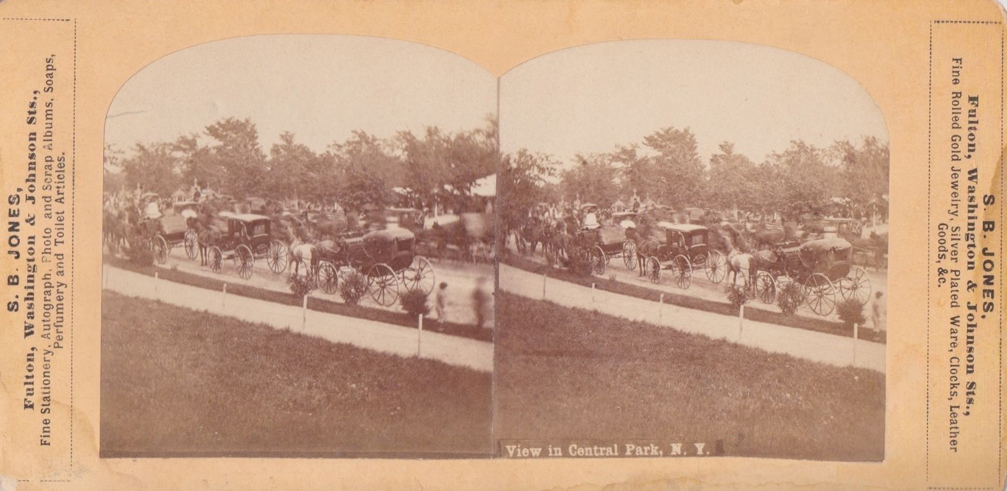 1896-Central-Park-View-of-many-horse-drawn-vehicles-on-drive