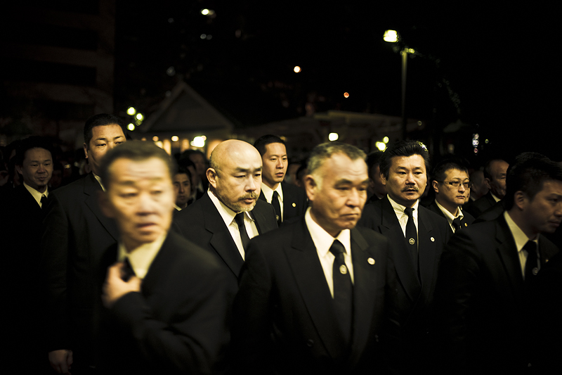 Members of different families paying their respects at the funeral service for Miyamoto-san - 2010