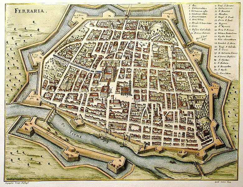 maps-of-medieval-cities--Ferrara-1600