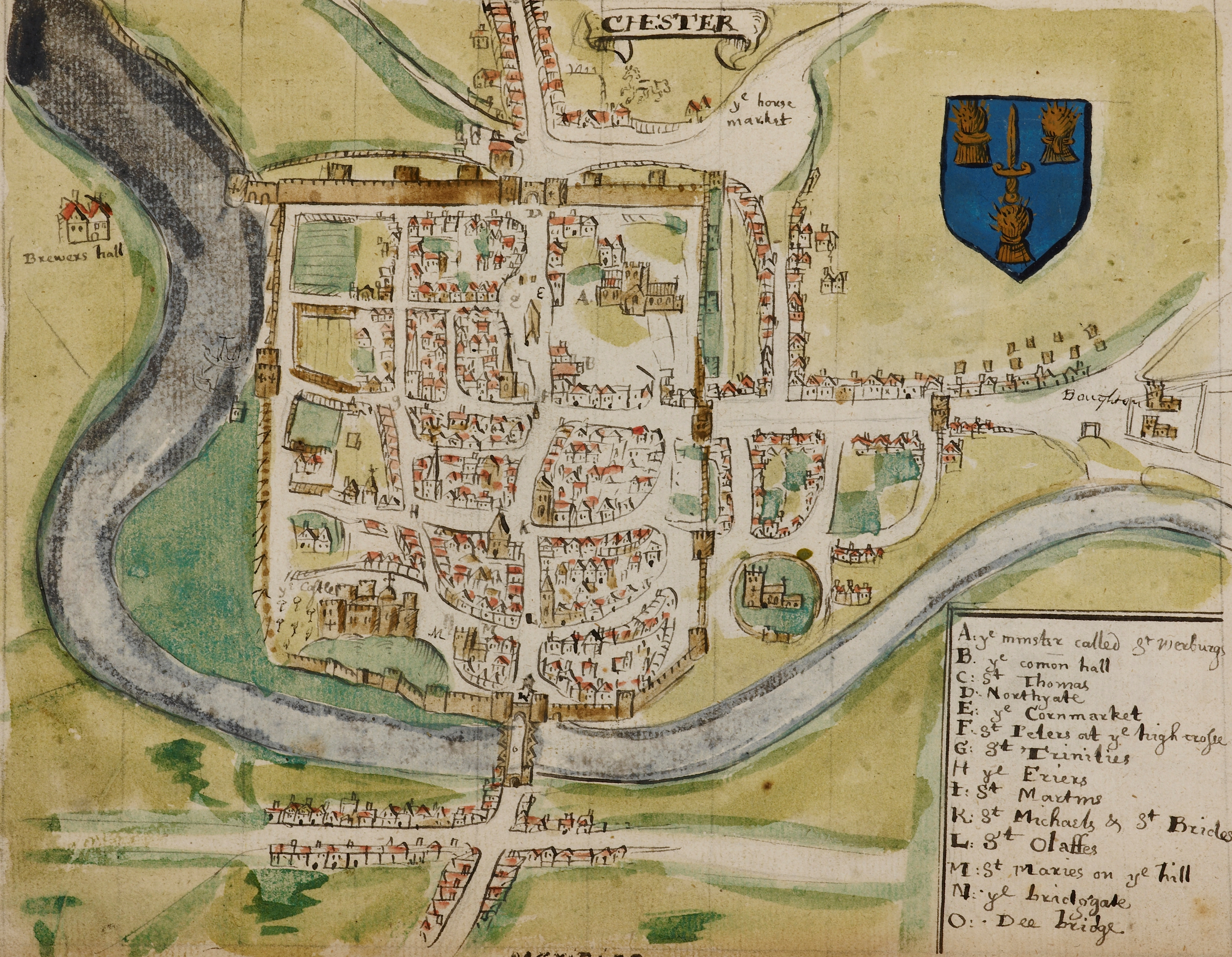 maps-of-medieval-cities-chester