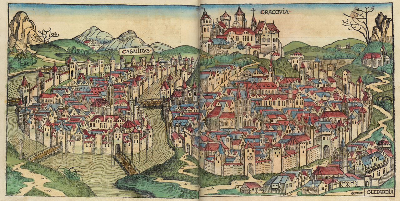 maps-of-medieval-cities-cracow-1493