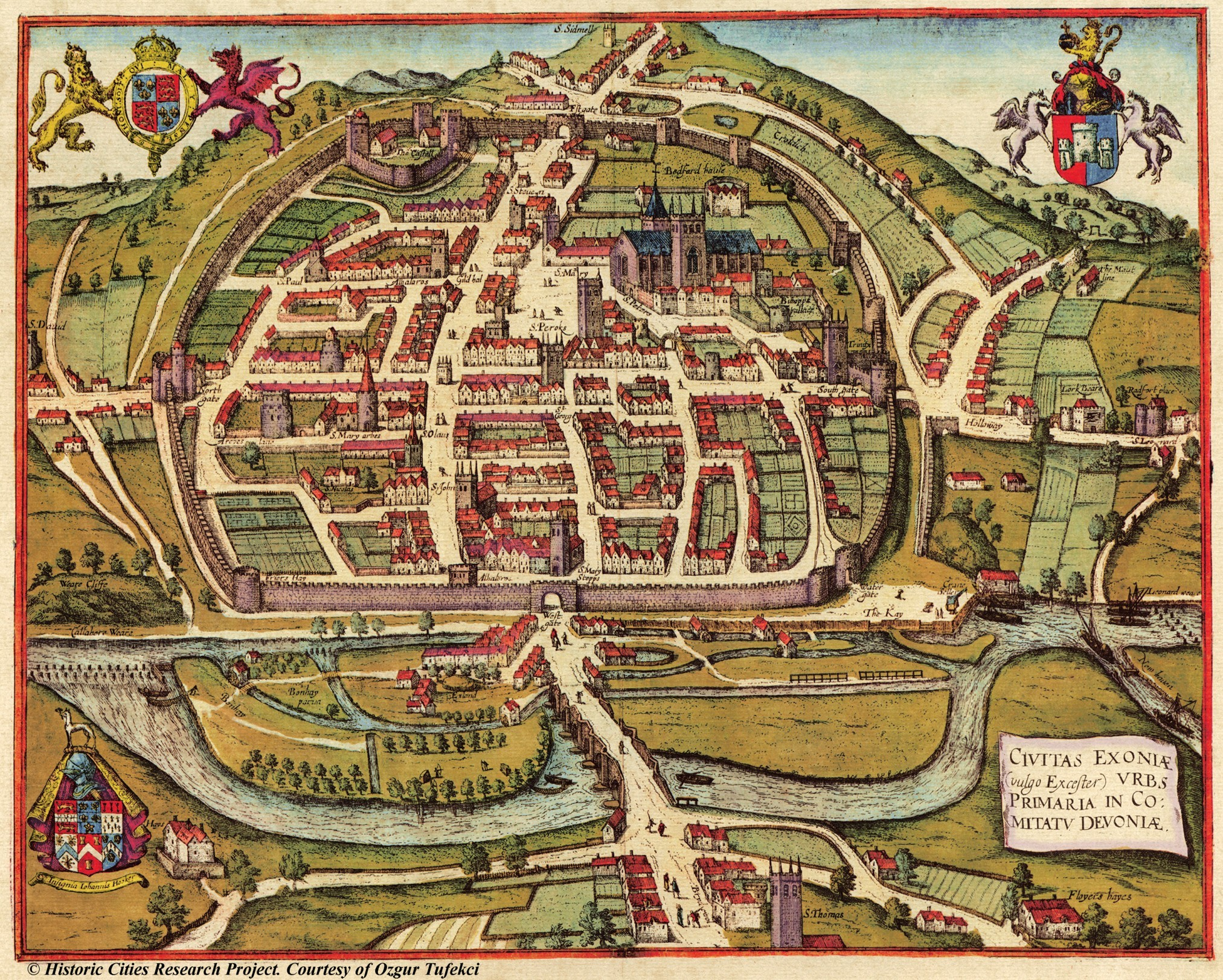 maps-of-medieval-cities-exeter-1617