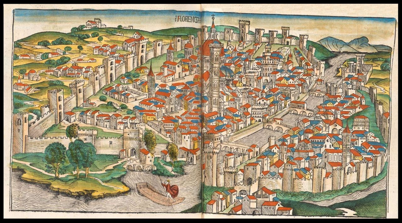 maps-of-medieval-cities-florence-1493-nuremberg-chronicle