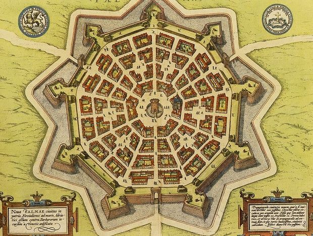 maps-of-medieval-cities-palmanova-italy