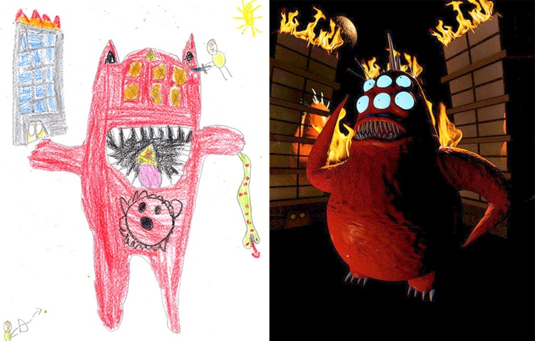 children's-monster-doodles-recreated-by- professional- artists-14